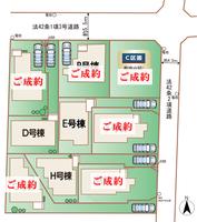 小金井市桜町1丁目区画図